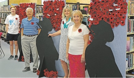 Poppies pay tribute to centenary
