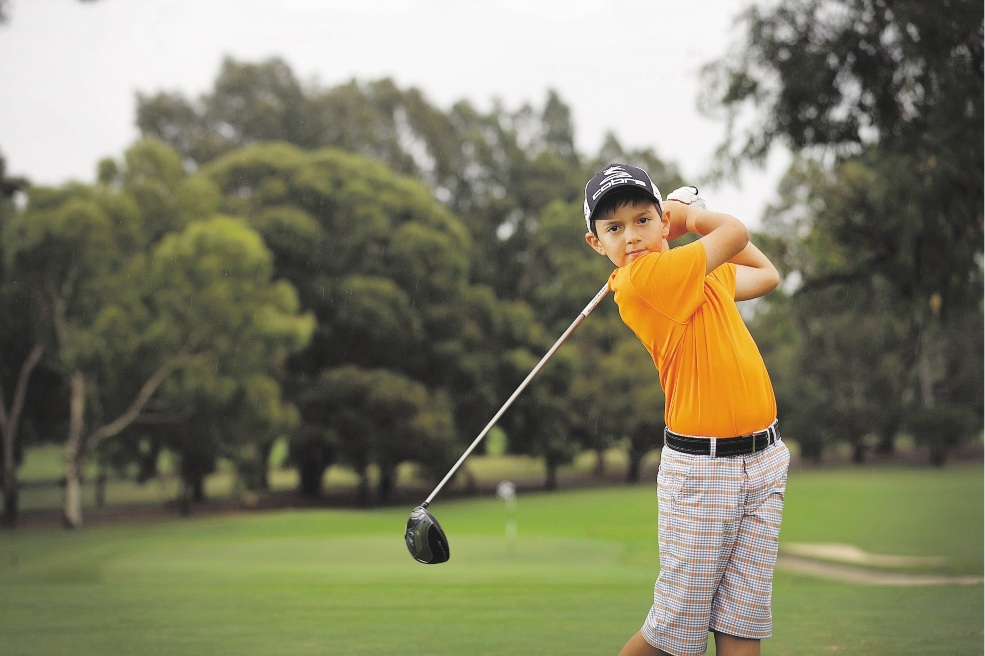 Just 10, Terry Hatzis will contest three upcoming tournaments in the US.  Picture: Andrew Ritchie  www.communitypix.com.au   d436132
