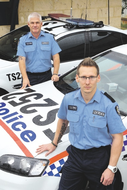 Senior Constable Grant Pilgrim and Constable Jay Langlois.