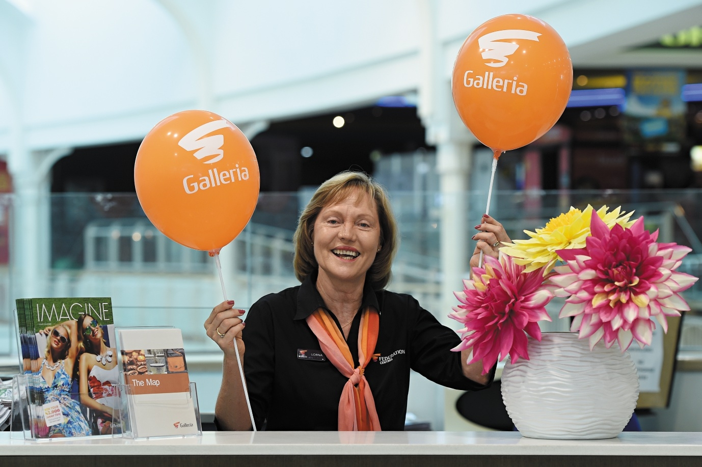 Morley Galleria Shopping Centre customer service officer Lorna Hayden. Picture: Marcus Whisson. d434855