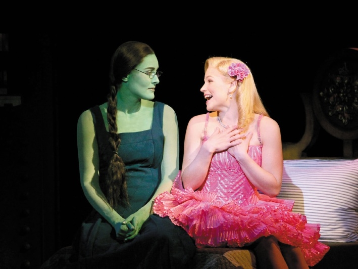 Left to right: Jemma Rix as Elphaba and Suzie Mathers as Glinda (taken by Andrew Ritchie in 2011)