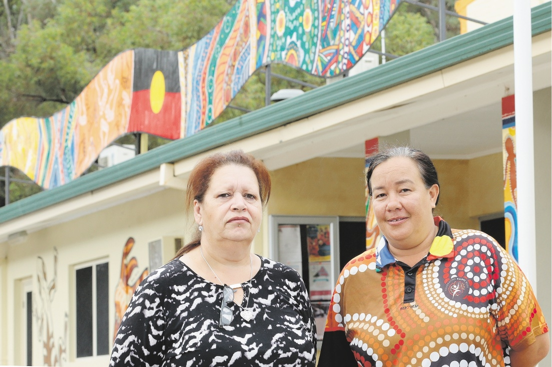 Funding setback: Champion Centre development officer Brenda Brittain with Indigenous children's and family officer Amanda |O'Connor. Picture: Marcelo Palacios                www.communitypix.com.au   d436237