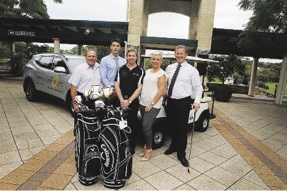 JBA's Neil Platts, Redimed's Adam de Jong, Jason Vowles and Ami Brown and Wayne Carroll of Joondalup Resort. Picture: Emma Goodwin            d435890