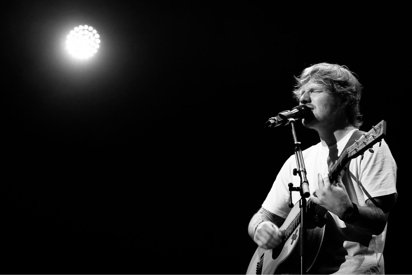 Ed Sheeran at Perth Arena. Picture: Andrew Ritchie.