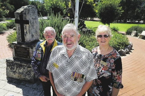 Yanchep RSL vice-president Bill Jones, president Rolly Sweet and affiliated member Susan Sweet are calling for more, and younger, servicemen and women to join.434262