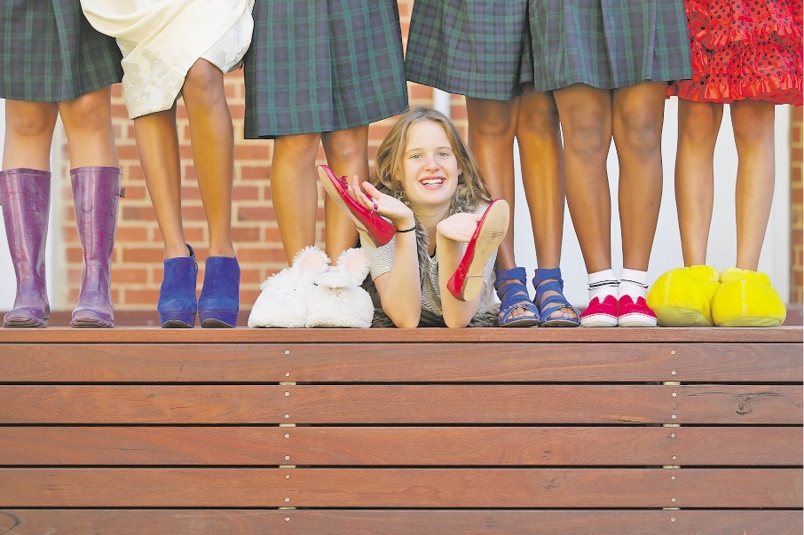 Year 12 service captain Elsa Silberstein said there was a huge response to the call for shoes.