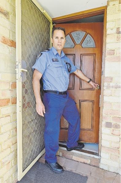 Lock up, says Sgt Paul Trimble. Picture: Jon Hewson d430585