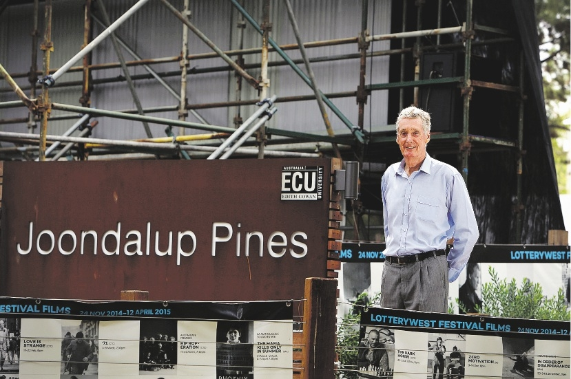 Man with a vision: Ed Jaggard, who first saw the potential for ECU to have an outdoor theatre. Picture: Emma Goodwin www.communitypix.com.au d435049