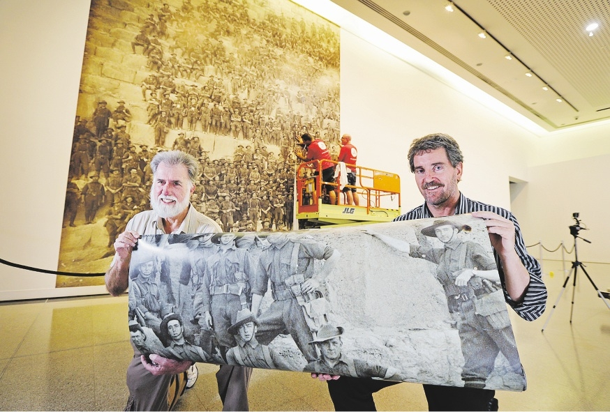 WA Genealogical Society project manager Chris Loudon and John Curtin Gallery director Chris Malcolm. Picture: David Baylis. d435358