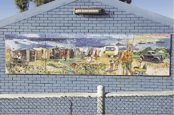 The mural to be relocated as part of the project.       d422834