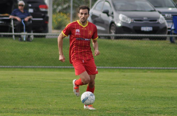 Sitrling Lions David Micevski, who is the NPL WA leading goalscorer. Picture: Peter Simcox