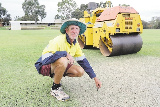 Graham Wicks at the Lilac Hill 1 cricket pitch.  Picture: Bruce Hunt  d435010