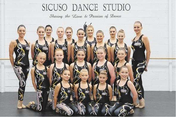 Sicuso Dance Studio dancers. Picture: Martin Kennealey www.communitypix.com.au   d435312