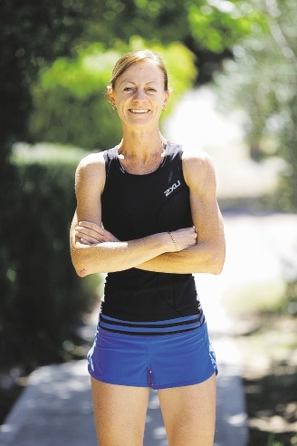 Dash for diabetes: Jacinta Berlingeri has not allowed her diabetic condition to stop her from running marathons.