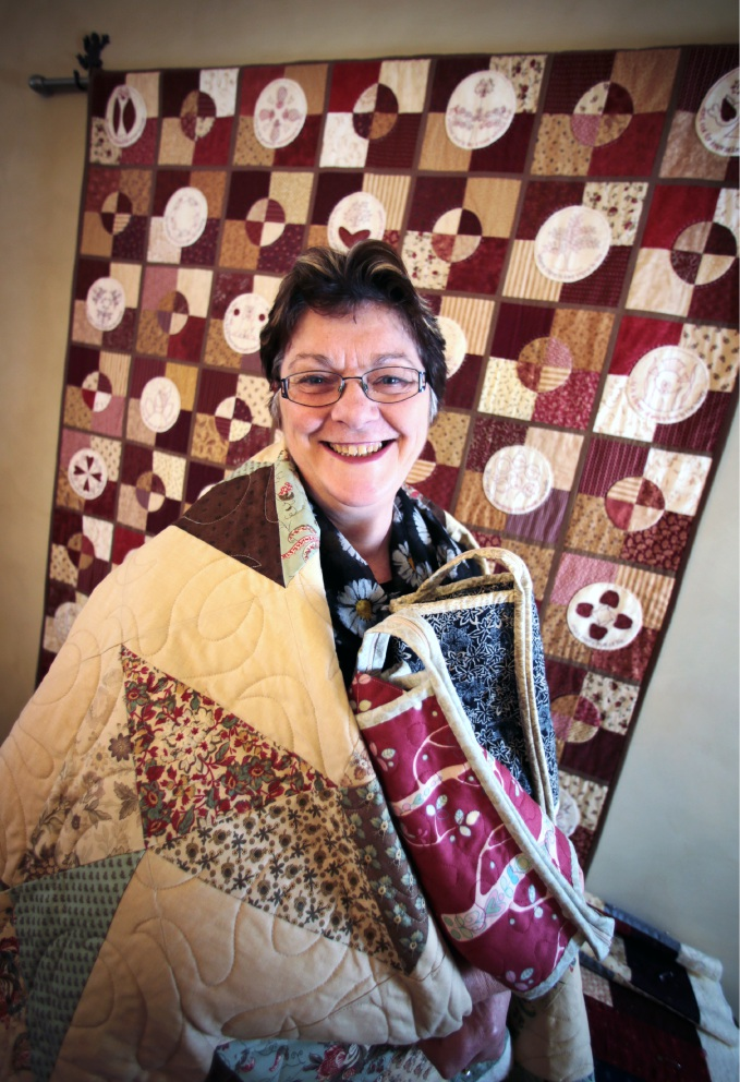 Cath Clarke prepares for the Craft and Quilt Fair. Picture: David Baylis    d453771