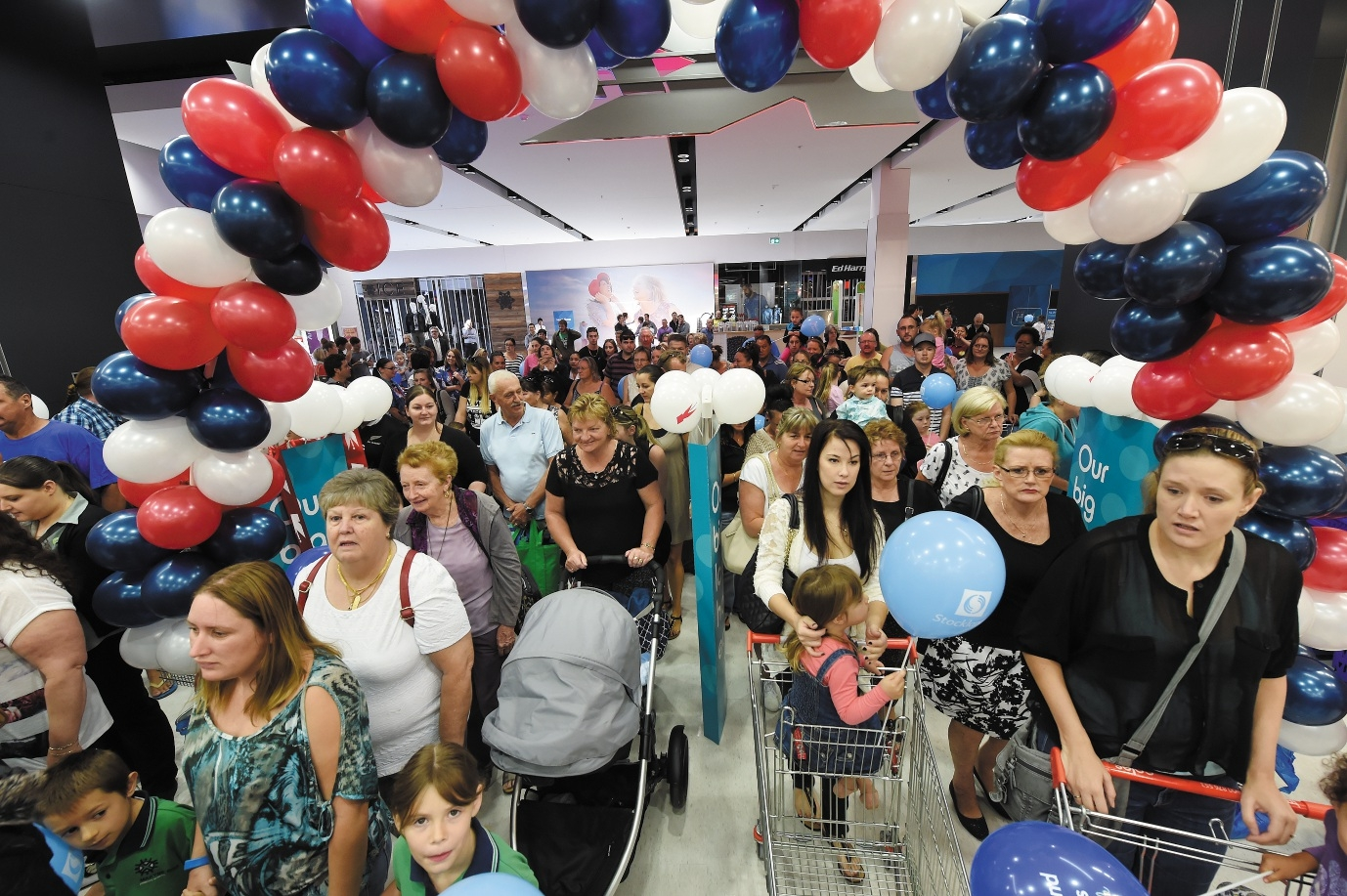 Shoppers check out the new Kmart at Stockland Baldivis, which opened yesterday. Picture: Jon Hewson d435494