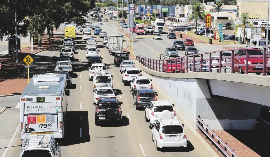 Heavy traffic on Albany Highway.www.communitypix.com.au   d435427