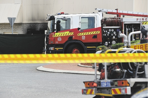 Site of the fatal explosion.   Picture: Marcus Whisson        www.communitypix.com.au   d432852