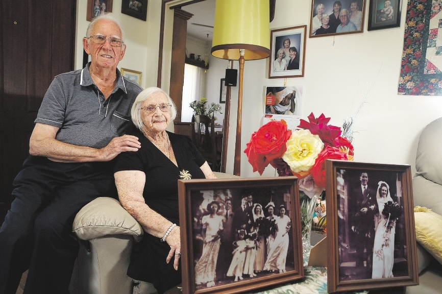 Bill and Audrey Watson, married for 65 years, share some wisdom  for making a marriage last.  Picture: Emma Goodwin            d434671