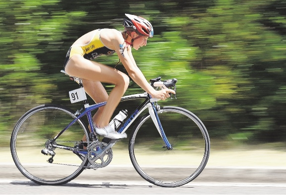 Jess Claxton is training hard for the School Sport interstate triathlon in NSW at the end of the month.
