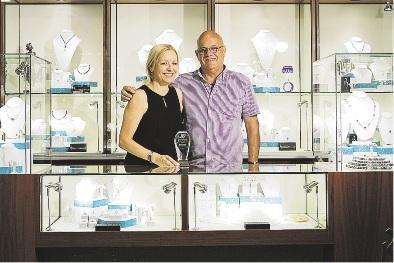 Jewellers Sue and John Blennerhassett.