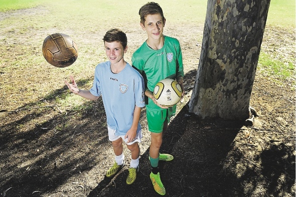Gothia Cup under 14 players James Fanelli and Sebastian Bell.