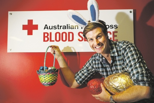 Trainee pastor Matt Dodd will be donating blood over Easter.