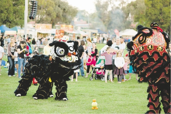 Lion Dancers at last year's Global Beats and Eats festival.