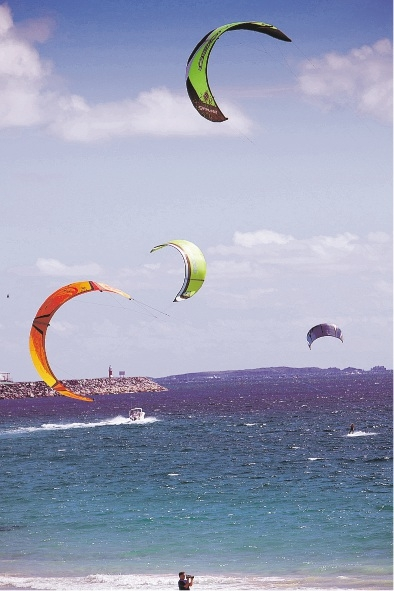 Kite-surfers in action. Beware of online sales after a spate of thefts.