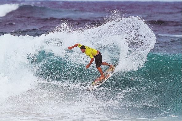 Drew Everest was runner-up in the open men's division.  Picture: Surfing WA/Woolacott