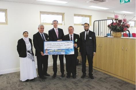 Principal of Australian Islamic College Sr Nasreen Ahmed, Hasluck MHR Ken Wyatt, Justice Minister Michael Keenan, Australian Islamic College chairman Dr Hamza Amira and executive principal Br Abdullah Khan.