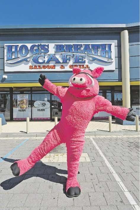 The Hogs Breath mascot will take part in the Family Fun Day and Duck Race.