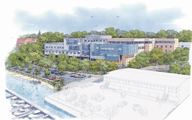 An artist's impression of the addition to Bethesda Hospital.
