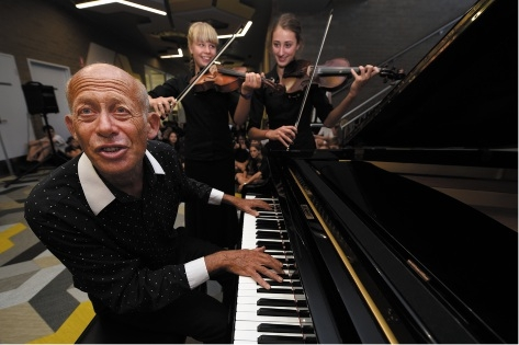Helfgott launches music room