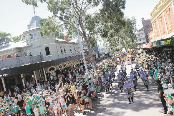 Previous St Patrick's Day Festival festivities.