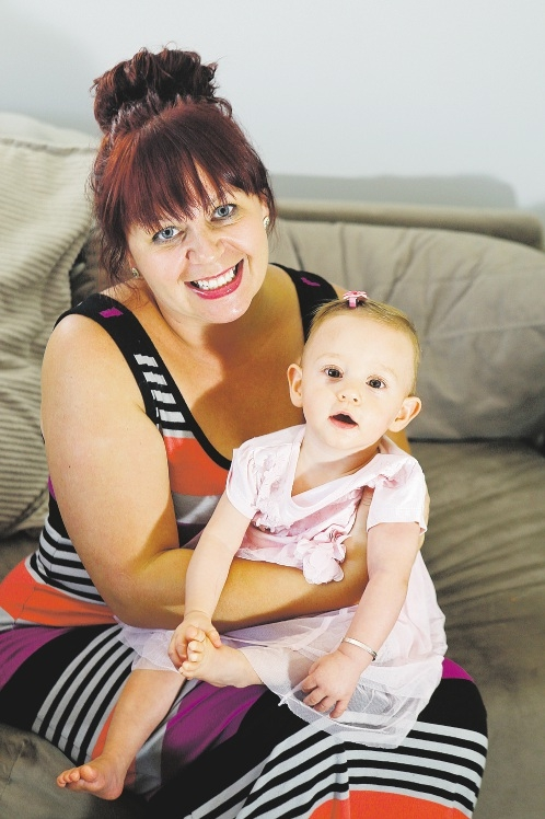 Danielle Adams with daughter Emma (14 months), who was born at 29 weeks.