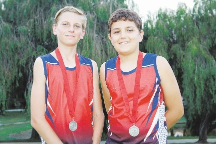 Dylan James and Brayden Smith with their medals.