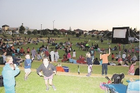Rotary Movie Night held in Butler on the eve of Clean Up Australia Day.
