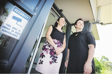 City of South Perth's Margaret King with Gowrie WA chief executive Tonia Westmore. Picture: David Baylis