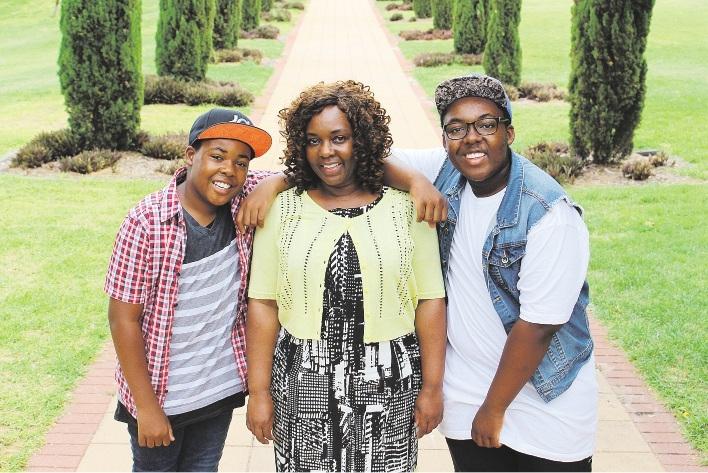 Fadzi Whande with sons Munashe and Mufaro Mutambiranwa. Picture: Claire Ottaviano