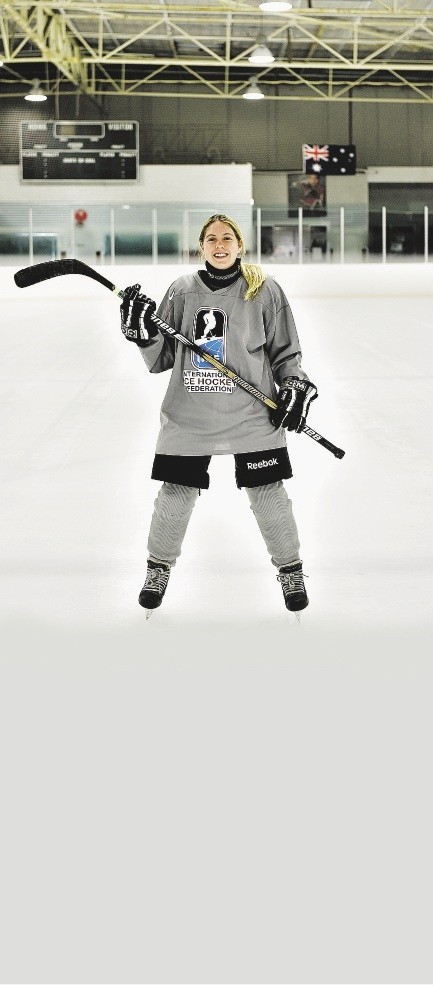 Australian women's national under-18 ice hockey team member Courtney Poole. Picture: Marcus Whisson