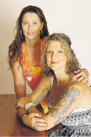 Survivor Foundation chief executive Samantha McClymans and Evana Willis.                   d433077