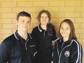 Brandon Rowe, Fatma Sehic and Shari Keenan took part in the summer school.