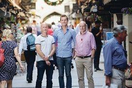 Triplify founders Damien Hatton, Matt Fontana and John Daniels.|Picture: Andrew Ritchie www.communitypix.com.au d428908