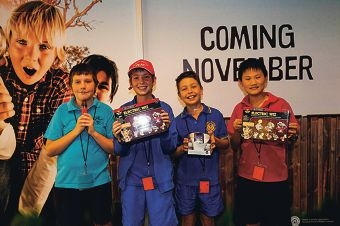 Winning team members Finnegan Lowry (Mindarie PS), Sean Sutton (Dalmain PS), Joshua Iemma (Dianella Heights) and Oliver Cheng (Carine PS).
