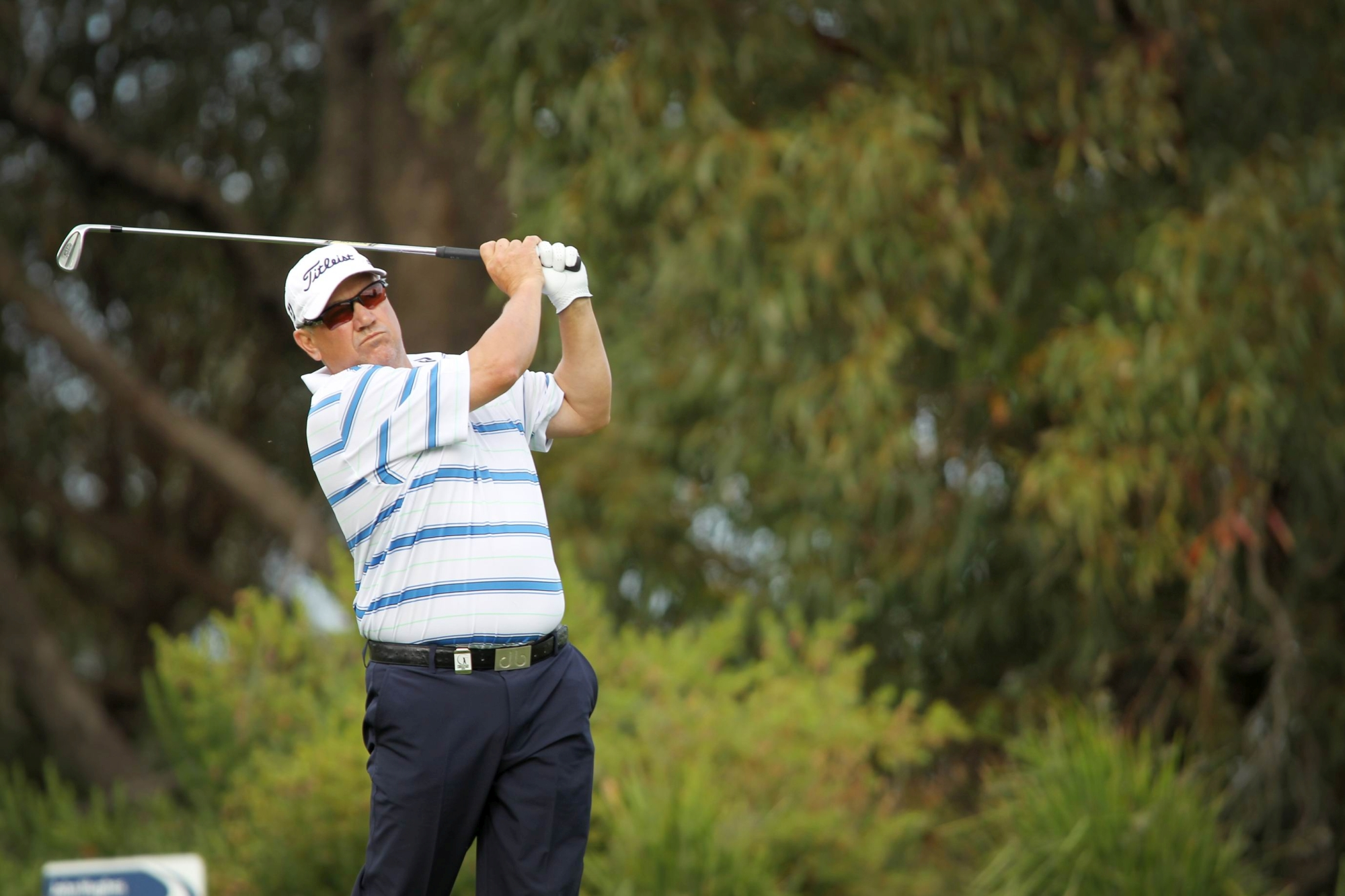 Peter O'Malley in action at the WA Open. Picture: Andrew Ritchie www.communitypix.com.au d427824
