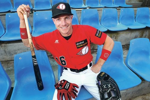 Baseball coach and player Luke Hughes, of Burswood.|Picture: Marcelo Palacios www.communitypix.com.au d427703