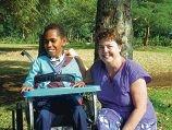 Occupational therapist Janet Richard |visited children in Vanuatu.