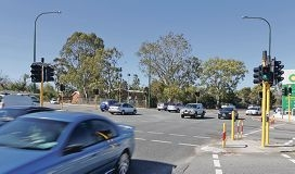 A Manning Road intersection in South Perth.