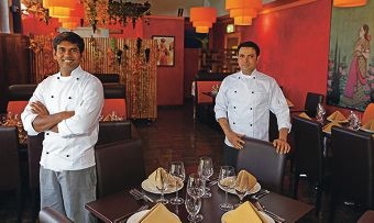 Food focus: Chefs Elance Fernando and Kaushal Verma hope the cuisine campaign will put Fremantle on the global food and wine map. Picture: Martin Kennealey d427387